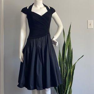Adriana Papelle Black Flared Dress